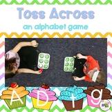 Toss Across Letters {an alphabet game}