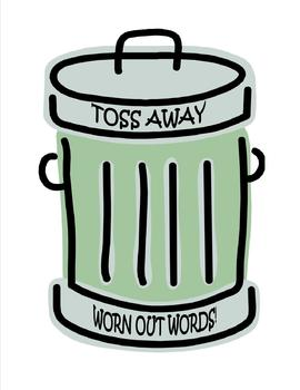 Toss Away Worn Out Words Poster