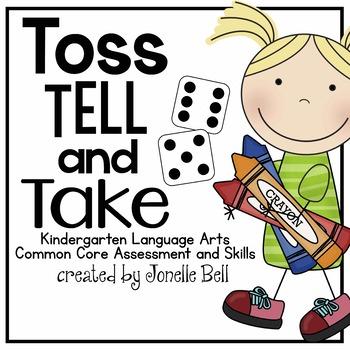 Toss Tell and Take Kindergarten Language Arts