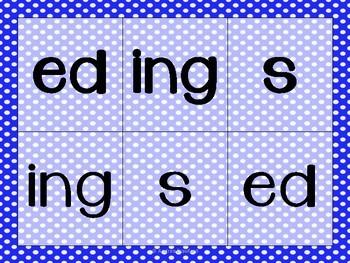 Toss an Ending (-ed, -s, -ing) Suffixes