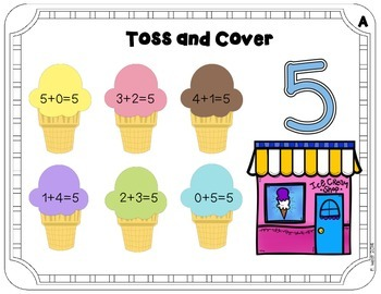 Toss and Cover - Math Facts Practice for RTI