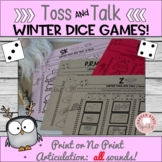 Dice Articulation Game for Winter Speech Therapy Later Sounds
