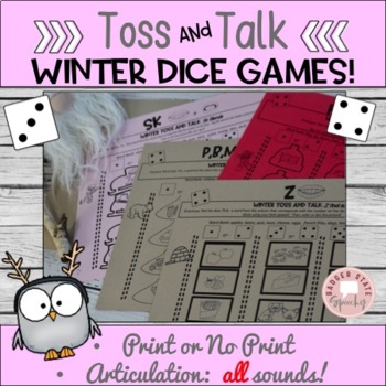 Toss and Talk:  No Prep Dice Games for Winter!  Later Sounds!