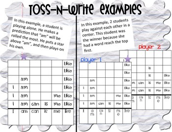 Toss and Write Word Towers