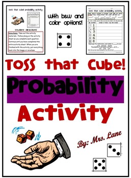 Toss that Cube! Probability Activity