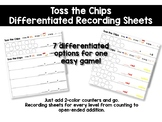 Toss the Chips Differentiated Recording Sheets