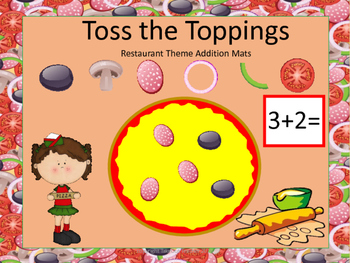 Toss the Toppings - Restaurant Theme Addition Mats (Tools of the Mind)