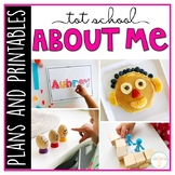 Tot School: All About Me {Plans and Printables}