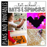 Tot School: Bats & Spiders {Plans and Printables}