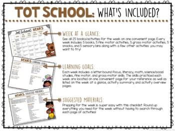 Tot School: Bears {Plans and Printables}