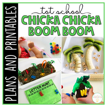 Tot School: Chicka Chicka Boom Boom {Plans and Printables}