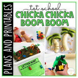 Tot School: Chicka Chicka Boom Boom {Plans and Printables}