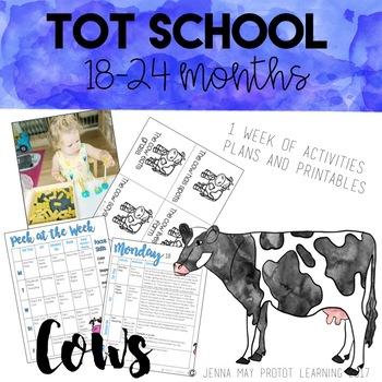 Tot School: Cows Unit 18-24 Months