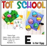 Tot School E is for Egg