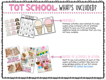Tot School: Ice Cream{Plans and Printables}