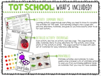 Tot School: Insects {Plans and Printables}