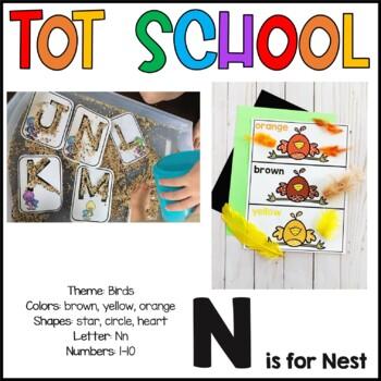 Tot School Letter N is for Nest