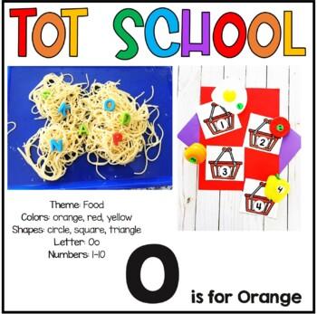 Tot School O is for Orange