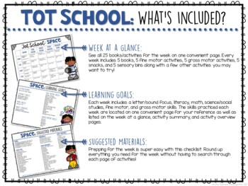 Tot School: Space {Plans and Printables}