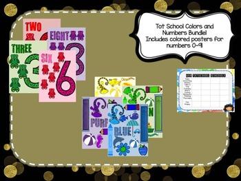 Tot School Starter Kit Colors & Numbers BUNDLE