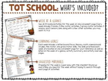 Tot School: Thanksgiving {Plans and Printables}