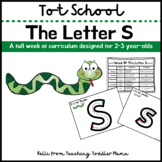 Tot School: The Letter S Week of Curriculum for 2-3 Year-Olds