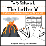 Tot School: The Letter V Week of Curriculum for 2-3 Year-Olds