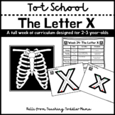 Tot School: The Letter X Week of Curriculum for 2-3 Year-Olds