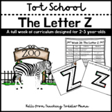 Tot School: The Letter Z Week of Curriculum for 2-3 Year-Olds