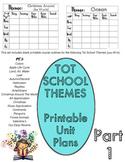 TOT SCHOOL BLANK UNIT PLANS for Teacher Binders - Printabl