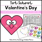 Tot School: Valentine's Day Week of Curriculum for 2-3 Year-Olds