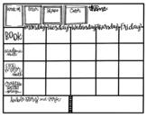 Tot School Weekly Planner