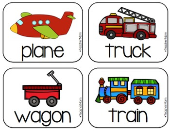 Tot School with #TeacherMom: Things That Go Materials Pack
