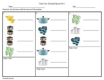 Total Cost Menu Math- Kitchen Express