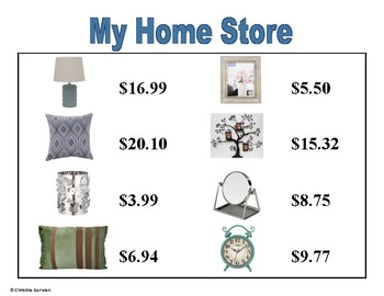 Total Cost Menu Math- My Home Store