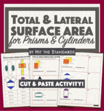 Total & Lateral Surface Area for Prisms & Cylinders with NETS (Cut&Paste!) 8.7B