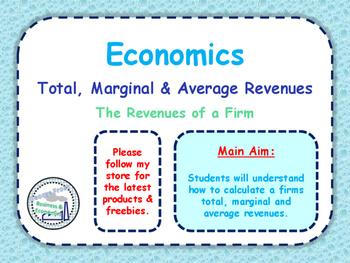 Total, Marginal & Average Revenues - Revenue of a Firm - P