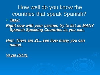 Total Review for Spanish 2 PowerPoint