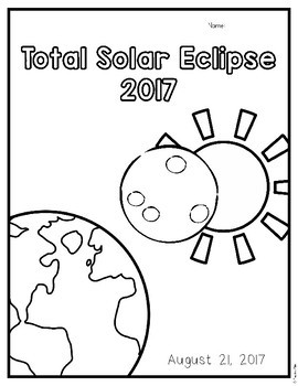 Total Solar Eclipse 2017 Coloring Page