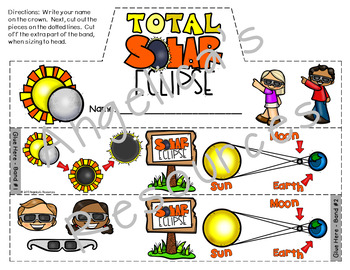 Total Solar Eclipse 2017 : Crowns and Wristbands - Solar Eclipse Craft
