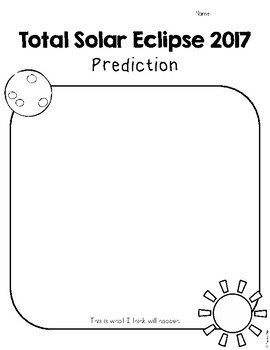 Total Solar Eclipse 2017 Differentiated Observation and Prediction Worksheets