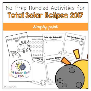 Total Solar Eclipse 2017 No Prep Bundled Activities