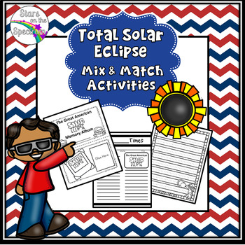 Total Solar Eclipse Follow Up Activities (Solar Eclipse Memory Book and More)