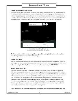 Total Solar Eclipse: Booklet, Activites, & Lesson Plans