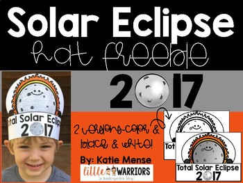 Total Solar Eclipse Hats Freebie