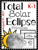 Total Solar Eclipse Printables Aug 21, 2017