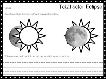 Total Solar Eclipse Printables Aug 21, 2017