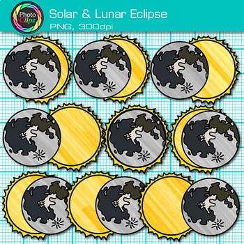 Solar Eclipse 2017 Clip Art {Astronomy Graphics for Science Lessons}