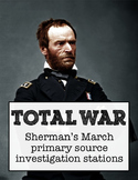 Total War: Sherman's March primary sources investigation stations
