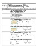 Total and Lateral Surface Area of Rectangular Prisms Cornell Notes